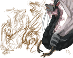 Sketchdump 001 I have dragons by Alloci