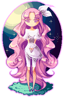 Pink Curly-Hair by rika-dono