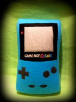 Teal Gameboy Color Plushie by Penguinotic