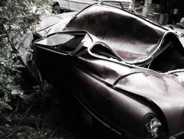 Smashed Saab 96 by qmorley