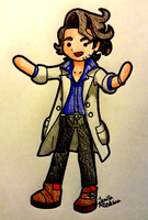 Professor Sycamore chibi [ART TRADE] by JenifaRitsukiwa