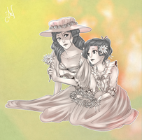 Evelyne and Millinette by Anante