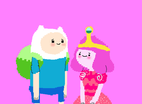 finn and bubblegum by blossomxdexter4eva