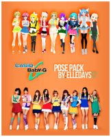 Q!Girls - Casio: Baby-G. by ElleDays