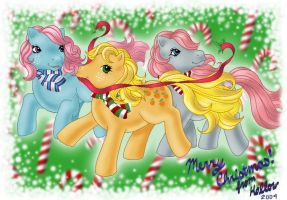 Pony Christmas Card by hollowzero