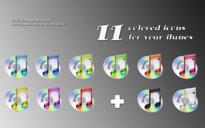 -iTunes's Colored Pack- by Hemingway81