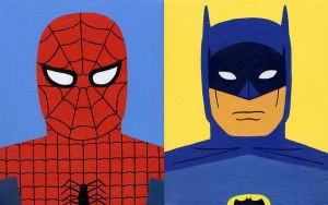 Spiderman and Batman by Teagle