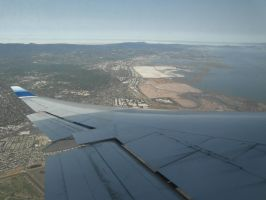 Boeing 747-400 Wingview over San Francisco by HYPPthe
