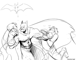 Batman Quickie by PawFeather