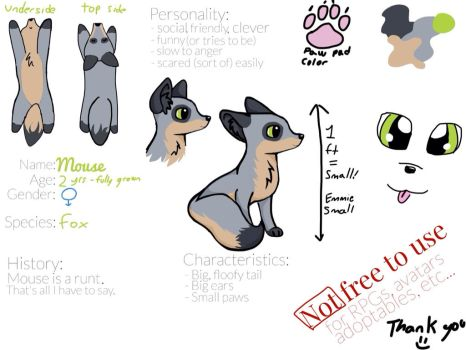 Mouse Ref - a new character, yay! by NeonPlaysMincecraft