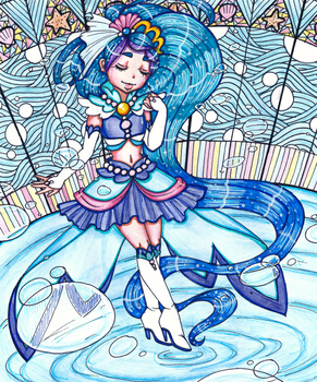 Princess of the seas, Cure Mermaid by sekaiichihappy