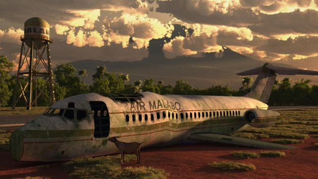 Malabo Airport by ariebaba