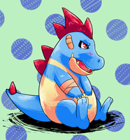 PKMN: Phelps the Croconaw by SkittleLush