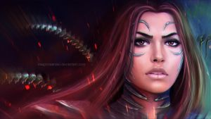 Sara Pezzini Witchblade - wallpaper version by MagicnaAnavi