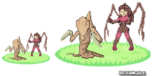 Pixel #2: Trainer Kerrigan wants to fight by Revangale