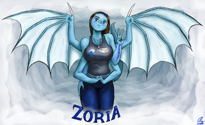 Zoria, Bringer of Storms by AzaleaCloud