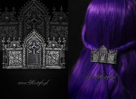 Tripple Tombstone Hairclip by Euflonica
