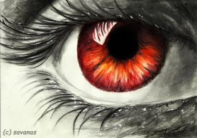 Fire Eye by SavanasArt
