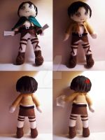 Corporal Levi plushie by StrawberryParall
