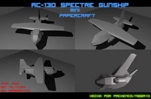 AC-130 Spectre Gunship Mini Papercraft by Niggayo