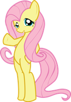 MLP FiM: Fluttershy saying hi by Hoodie-Stalker