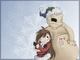 Oogie nd Sony-Xmas wallpaper by Sony-Shock