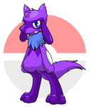 Whitney the WereRiolu by KendraTheShinyEevee