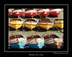 Boats at Looe, black border by VisualPurple