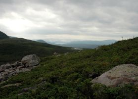 Climbing Gros Morne 2 by LucieG-Stock