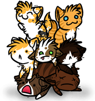 .:Pile of Kittens:. by hushbee