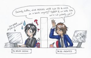 Vic And Kellin get a 'Real Job' by erondagirl