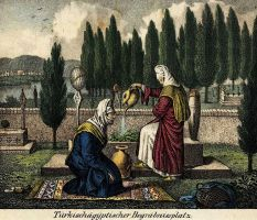 Grave Visiting Of Ottoman Women, Istanbul by ugur274