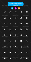450 Black and White Vector Icons by KL-Webmedia