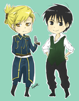 Royai chibi by Sapelak