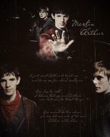 Merlin and Arthur by cynth90
