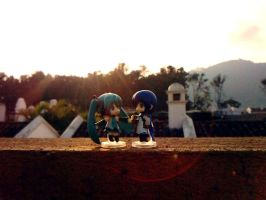 MikuxKaito Afternoon Date 2 by chechechunin