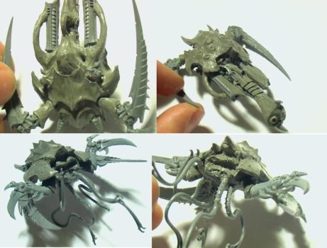 Battle Fleet Gothic - Hive ships WIP (Nids) by The-Build