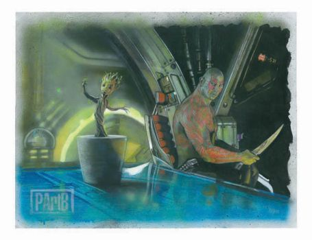 Drax and Baby Groot Coda - Guardians of the Galaxy by PBART79