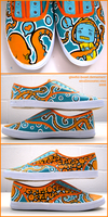 handpainted shoes V by gleeful-beast