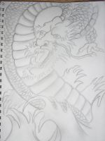 Japanese Dragon Sketch by iluvvanessa