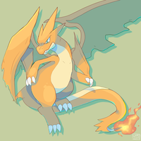 Mega Charizard Y by ChocoChaoFun