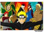 Naruto and the Five Kages by grivitt