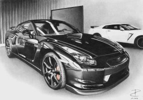 Nissan GTR black by PavolBosik