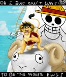Luffy just can't wait to be king by ShakyLeox
