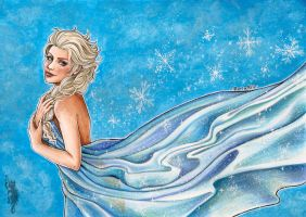 Elsa Frozen Coloured by RerinKin
