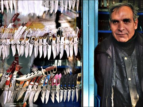 Knife-seller by sheritra