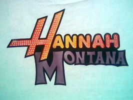 HANNA MONTANA LOGO AIRBRUSHED by javiercr69