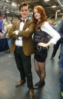 The Doctor and The Kissogram by LisaMarieCosplay