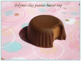Peanut Butter Cup Polymer Clay by guppykisses