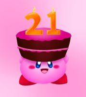 Kirby's 21st Anniversary by LunarHalo24